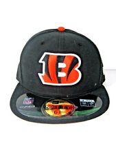 New Era Cincinnati Bengals NFL 59Fifty Black Fitted Hat Baseball Cap Size 6 7/8