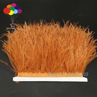RustOchre Ostrich Feather trims Dress Sewing Millinery Crafts Costumes the meter
