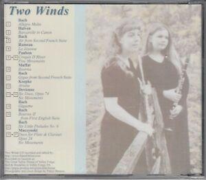 Works for Flute & Clarinet Classical New CD Bach Muczynski Rameau Halven Paubon