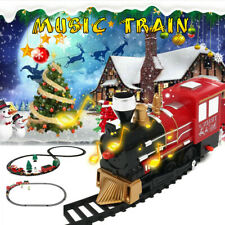 Christmas Toy Train Express Holiday Festive Set Track Light & Sound Kids Gift