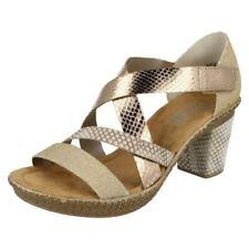 Sandali e scarpe sintetici marca Rieker per il mare da donna tacco medio ( 3,9-7 cm )
