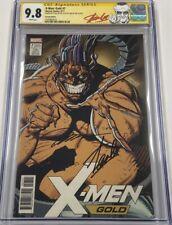 Marvel X-Men Gold #7 Variant Autograph Signed Stan Lee & Jim Lee CGC 9.8 SS MCU