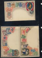 Uruguay, Paraguay, Mexico color stamp post cards unused