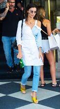 Zara Contrasting Blue Wrap Shirt Dress Size MEDIUM BNWT