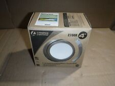 NEW Lithonia Lighting 4 Inch LED Gimbal Brushed Nickel Lower Lumen