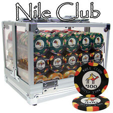 New 600 Nile Club 10g Ceramic Poker Chips Set with Acrylic Case - Pick Chips!