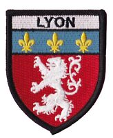Patche écusson Lyon badge patch Olympique Lyonnais thermocollant brodé