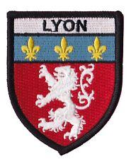 Patche écusson Lyon badge patch Olympique Lyonnais thermocollant brodé