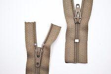 Reißverschluss Kopfkissen Bettwäsche schließbare Länge 160 cm dunkelbeige
