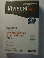 VIVISCAL HAIR GROWTH SUPPLEMENT FOR MEN 60 TABLETS EXP 2018