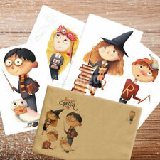 Harry Potter, Set of 4 Postcards with Envelope, Hermione Ron Luna Patronus Card