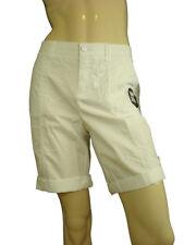 Style & Co. Women's Petite Tummy Control Bermuda Shorts Bright White 12P