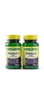New Spring Valley Melatonin Tablets 5mg 120 Ct. 2 Pack, Sealed