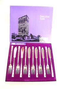 Vintage 12pc VINERS EXECUTIVE SUITE Fish Cutlery Set BOXED  - B84