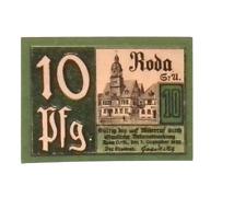 1921 Germany RODA 10  Pnennig  Notgeld / Banknote