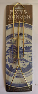 Plate Hanger Fits All Plates Brass Plated (A1)