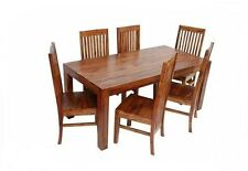 Jaipur- Indian Solid Sheesham Wood - 120cm Dining Table and 4 Chairs