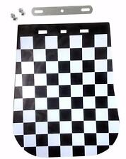 Black White Chequered Mud Flap Vespa Lambretta Modena LML Scomadi Two Tone Ska