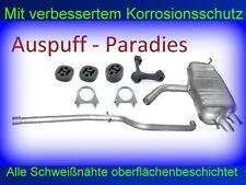 Abgasanlage Auspuff Schalldämpfer Audi A3 1.9 TDi (Typ 8P1) 3 - Türer + Anbaukit