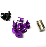 N10079 1/10 Scale RC 21mm Long Magnetic Body Shell Mount Posts Alloy Purple x 4