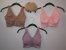 """Rhonda Shear 3-pack """"Ahh"""" Bra with Removable Pads-Vintage-Large-New"""