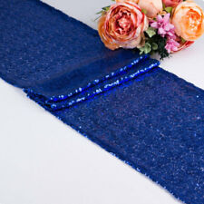 """Polyester Sequin Table Runners 12""""x71"""" Sparkle Glitter Wedding Party Decorations"""