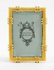 "Olivia Riegel Gold Cassini Frame 4"" x 6"" Picture Photo Frame Swarovski crystals"