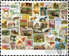 Horses : 300 Different Stamps Collection