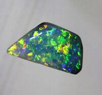 Dark opal red orange green blue gold Australian Lightning Ridge opal 2.47 cts