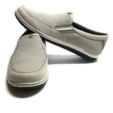 Dunham FitSync Mens 14 EE EU 49 Loafers Gray Fabric Slip On Rubber Sole Vegan