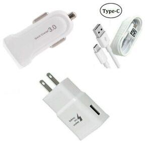 Fast Adaptive Wall, Dual USB Car, USB-C, Motorola Moto G Fast/G Power/G Stylus