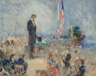 Howard Chandler Christy Abraham Lincoln At Gettysburg Canvas Print   # 6151