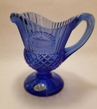 Vintage Avon Cobalt Blue The Mount Vernon Sauce Pitch