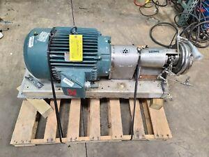 Landish Tri-Clover Pump SP218M-9237-35 25HP 230/460V 3 Phase Stainless Steel