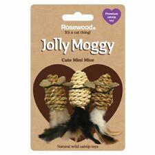 Rosewood Jolly Moggy Premium Wild Catnip Cute Mini Mice  Cat Toy