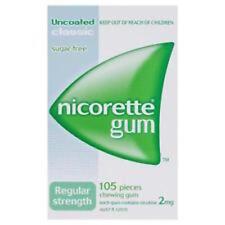 Nicorette Regular Strength (2mg) Classic 105 Chewing Gum FREE POSTAGE