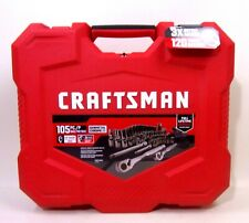 Craftsman Mechanics Tool Set 105 Pc Saemetric Gunmetal Chrome Red Hard Case