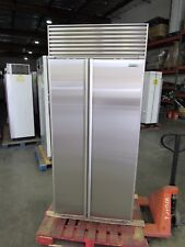 "SUB-ZERO 36"" w/PERFECT STAINLESS SIDE BY SIDE BUILT-IN REFRIGERATOR @REFURBISHED"