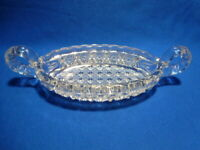 Vintage Nucut Clear Pressed Glass Candy/Relish Dish With 2 Handles # 506