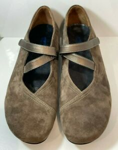 Wolky Passion Womens Suede Brown Strap Mary Jane Comfort Walking Shoes Size 42