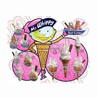 ice cream van traditional bespoke old fashioned sticker