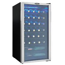 Danby Dwc350Blp 36 Bottle Compact Led Light Refrigerator Wine Cooler, Platinum