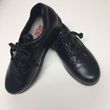 SAS Free Time Womens Comfort Walking Shoes Black Leather Sz 8.5W Wide