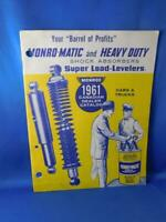 MONROE SHOCK ABSORBERS MONRO MATIC HEAVY DUTY CATALOG 1961 ADVERTISING CAR TRUCK