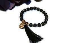 Gypsy Style Slip on Bracelet, Beaded Bracelet, Women's Accessories
