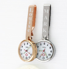 Personalised Quartz Hanging Nurse / Carers Fob Watch - ROSE GOLD / SILVER