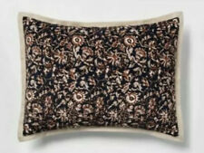 2 Threshold Floral Print Velvet Tufted Pillow Sham New Pair