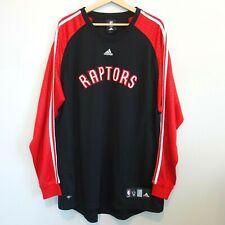 Adidas ClimaLite Toronto Raptors NBA Warm Up Shirt Men's XL Long Sleeve Shooting