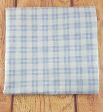 Vintage Laura Ashley Plaid Twin Flat Sheet Periwinkle Lavendar White Bedding