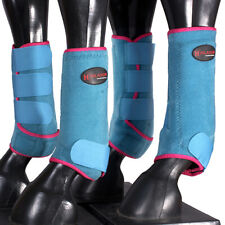 New listing Medium Hilason Horse Front Rear Protection Sports Boot 4 Pack Pink